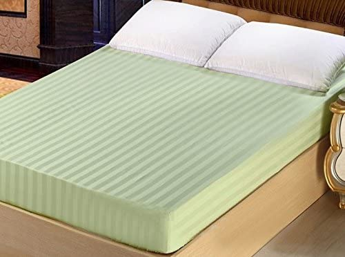 400-1000 TC Stripe 1PC Gold Bed Fitted Sheet 100/% Cotton American Size Bed