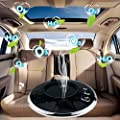 YOFUNTLE Ionic Air Purifier Fresher,USB Car Air Humidifiers,Solar Anion Humidifier,Ultrasonic Car Humidifier with Adjustable Mist Mode(Black) from Yofuntle