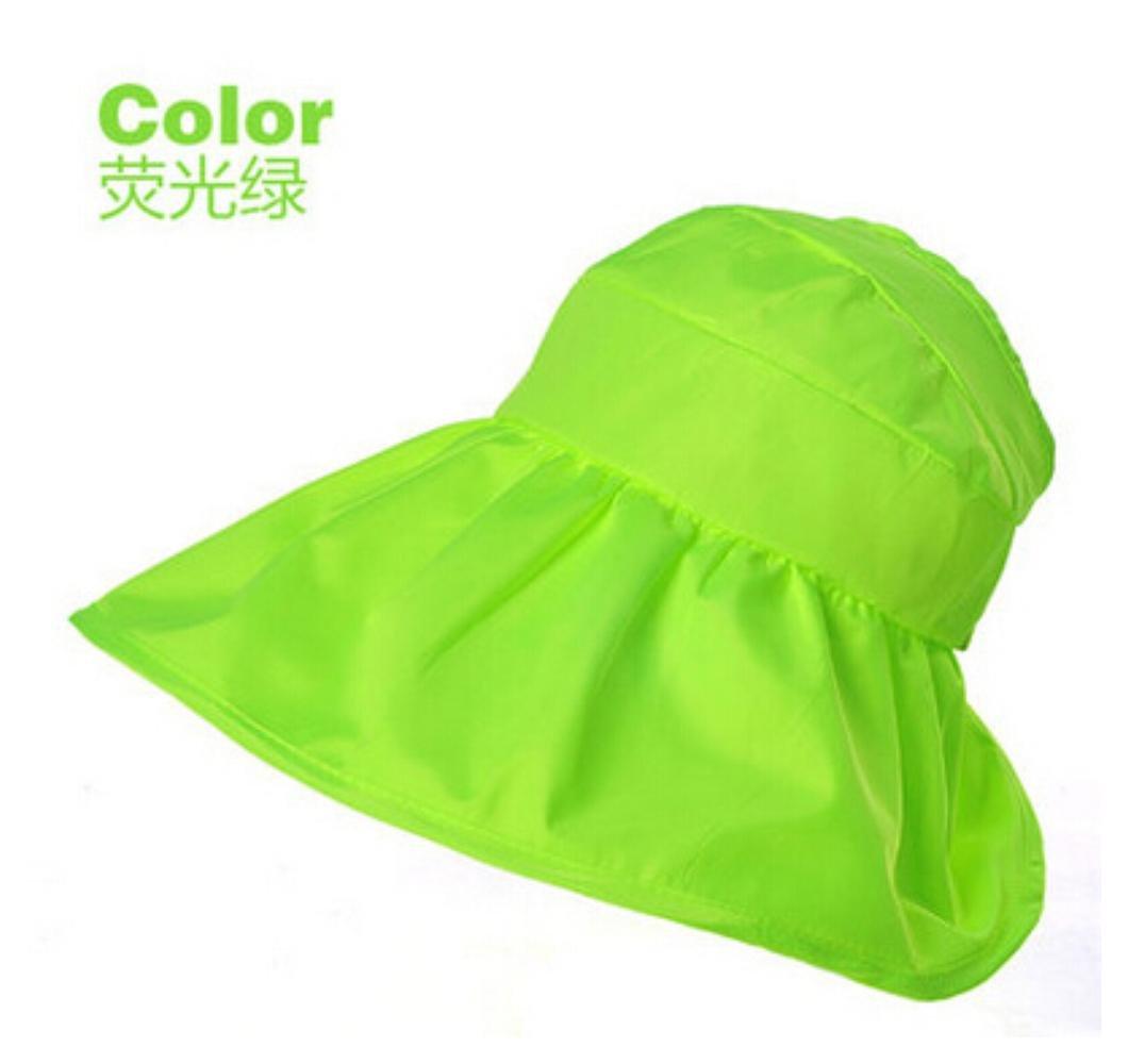 18b4103c2f3 Summer Korean Style Topless Foldable UV Women Sun Beach Hats Anti Sun UV  Color Green Apparel
