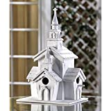 All wood Little White Chapel multiple Birdhouse garden decor yard decoration ,product_by: repopld; TRYK30111952601295