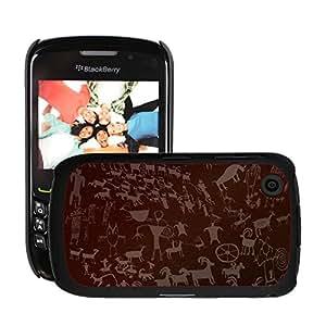 Print Motif Coque de protection Case Cover // M00158385 Arte de la roca de piedra antigua // Blackberry 8520 9300