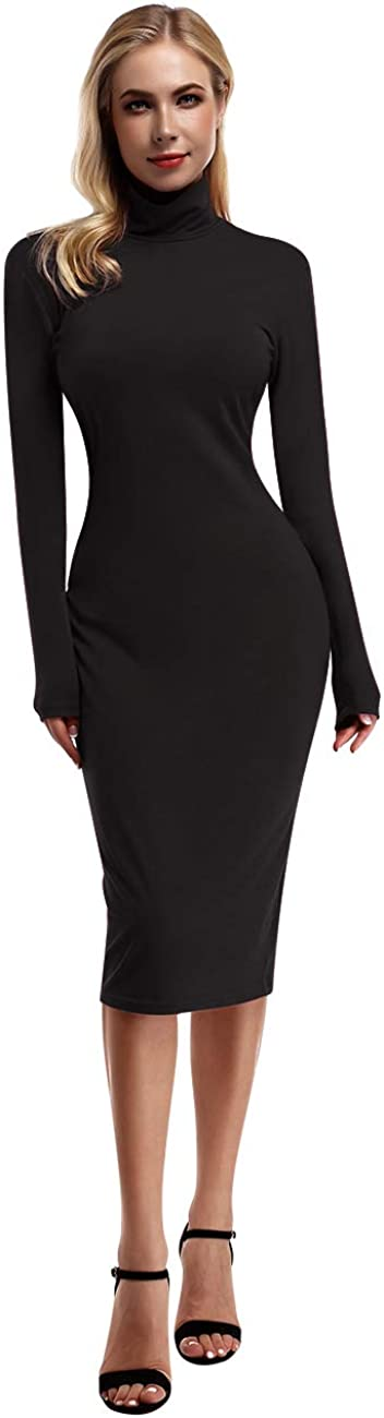 Yesfashion Women's Ruched Midi Bodycon Dresses Long Sleeve Sexy T Shirt Dress