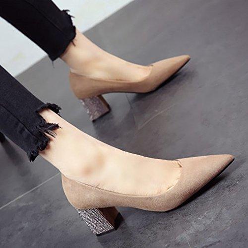 Moda tacón tacón fuerte y zapatos de personalidad b de FLYRCX a8qxPdP