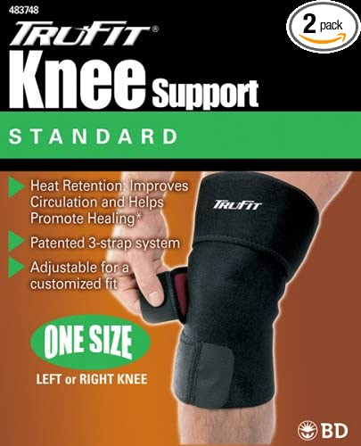 2469477889 Amazon.com: Tru-Fit Knee Support, Black, One Size Fits All (Pack of 2):  Health & Personal Care