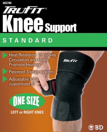 Tru-Fit Knee Support,  Black, One Size Fits All (Pack of 2)