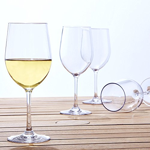 LeadingWare Group Indoor/Outdoor Chardonnay Wine Glasses, Set of (Polycarb Wine)