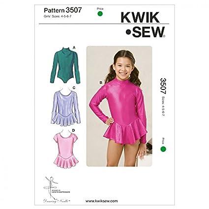 Amazon Kwik Sew Childrens Sewing Pattern 3507 Dancewear