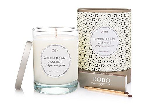 Kobo Candles Kobo Soy Candle, Green Pearl Jasmine (641403)