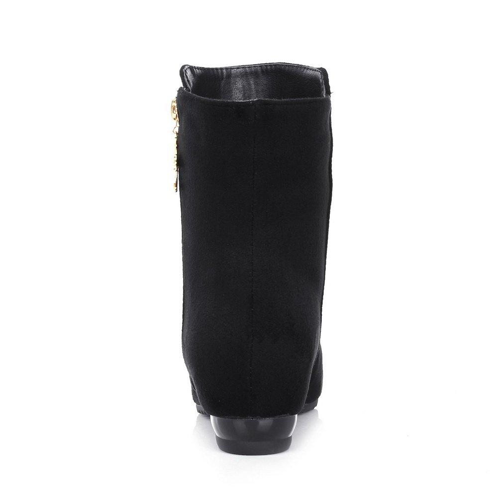 AdeeSu - AdeeSu B0752KDBNF Zapatos cerrados - Para mujer Negro 775c9e5.  glaseado. Suela de Goma e8c64b6623c9a