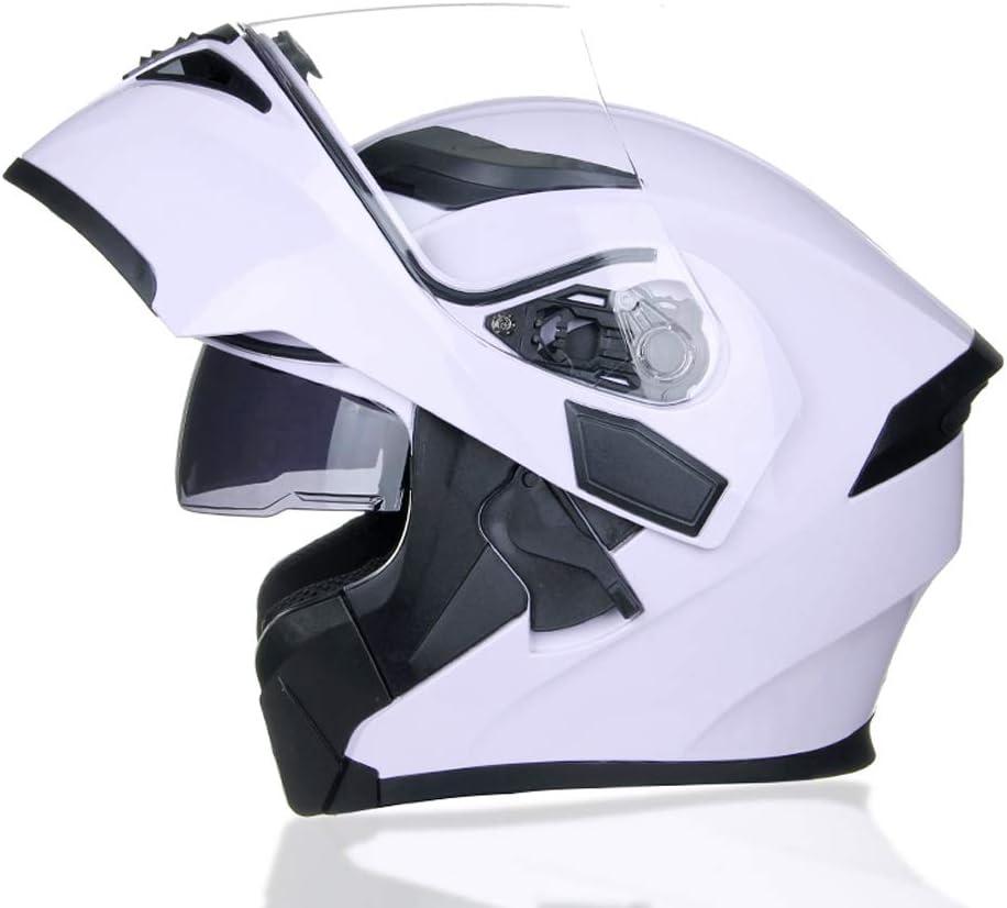 MOTUO Motorrad Helm Klapp Helm Integralhelm Motorradhelm mit Doppelvisier Scooter Roller Helm f/ür Damen und Herren