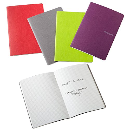 Fabriano Paper - Fabriano EcoQua Notebooks, Four Assorted Colors