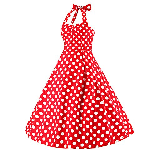 Luouse - Vestido - para mujer Rojo