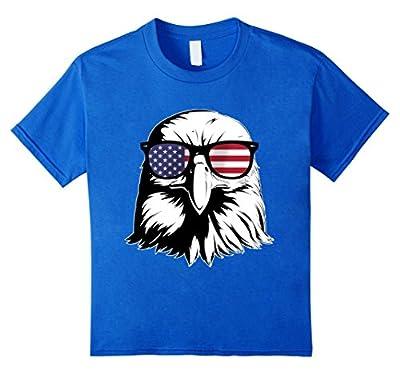Bald Eagle T Shirt Patriotic Sunglass Shirt Red, White & Blu