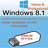 Image of Windows 8 32-bit & 64-bit All Editions Recovery Reinstall Repair Fix USB WINDOWS 8 ANY Version Repair Recovery Restore Reinstall Reboot Fix USB Free Messaging Tech Support For Syshop2015 Buyers Only