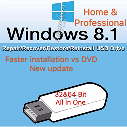 Windows 8 32-bit & 64-bit All Editions Recovery Reinstall Repair Fix USB WINDOWS 8 ANY Version Repair Recovery Restore Reinstall Reboot Fix USB Free Messaging Tech Support For Syshop2015 Buyers Only
