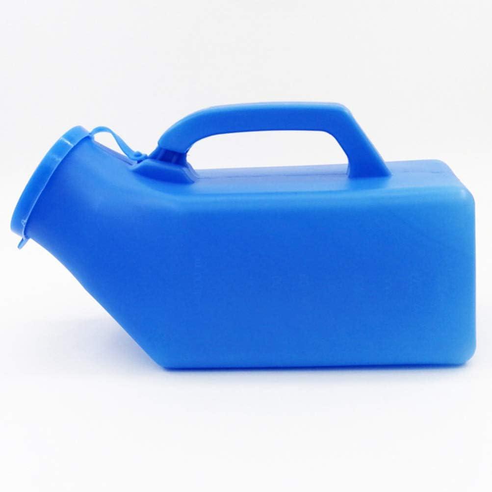 Exceart Botella de Urinario Botellas de Orina para Orinar Masculinas Port/átiles con Tubo para Campamento Al Aire Libre C/ámara Urinaria de Viaje para Ni/ños Y Ancianos Azul