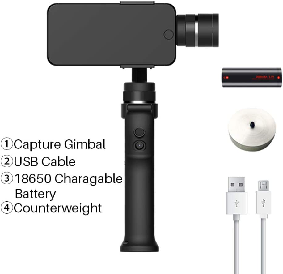 HUAXING Gimbal Smartphone,Video Stabilizer 3-Axis Handheld 8Hrs Play Time Handheld Gimbal Portable Camera Mount for Smartphone.
