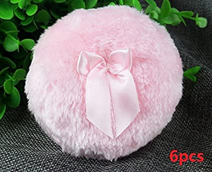 Topwon 3.5'' Soft Dusting Powder Puff Pink - Large Size (12pcs) JJYP367-12