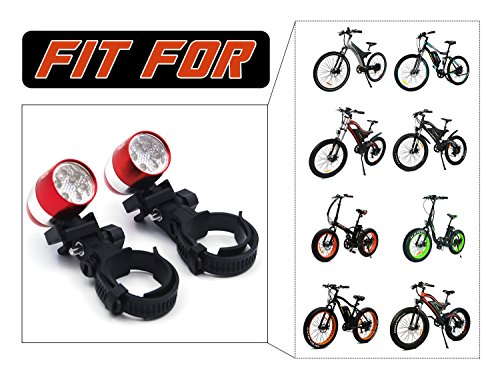 Addmotor Bicycle Bike Front Fork Head Light 6 LED Front Warning Flash Light Mini Safety Cycling Lamp Flashlight 2 Modes Waterproof For M-850/M-550/M-150/H2/H1/H5/XIMA X1/Maxfoot Electric Bikes(Red) -  SP260