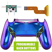 eXtremeRate Dawn Programable Remap Kit for PS4 Controller with Mod Chip & Redesigned Back Shell & 4 Back Buttons - Compatible with JDM-040/050/055 - Chameleon Purple Blue