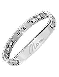 Willis Judd New Ladies Titanium Bracelet Engraved MOM with Gift Box and Link Removal Tool