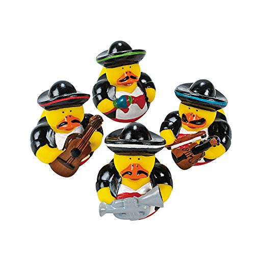 Fun Express - Mariachi Rubber Duckies for Cinco de Mayo - Toys - Character Toys - Rubber Duckies - Cinco de Mayo - 12 Pieces