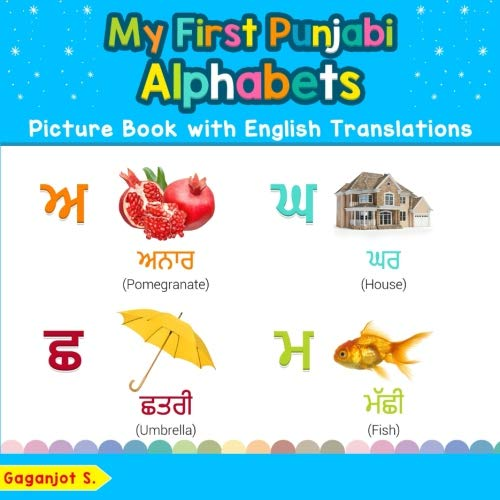 My First Punjabi Alphabets Picture Book with English