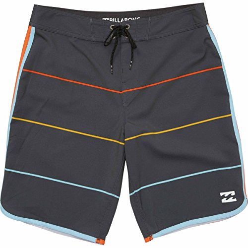 Billabong Men's 73 X Stripe Boardshort, Charcoal, 32 Billabong Flap Pocket Boardshorts