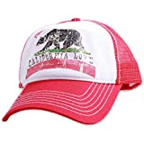 California Love Distressed Youth Pit Stop Twill Trucker Hat - Red