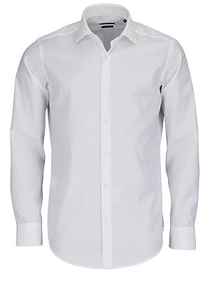 ffd0dea7c95b BOSS Business Regular Fit Hemd Langarm Gordon Popeline weiß Größe 39 ...