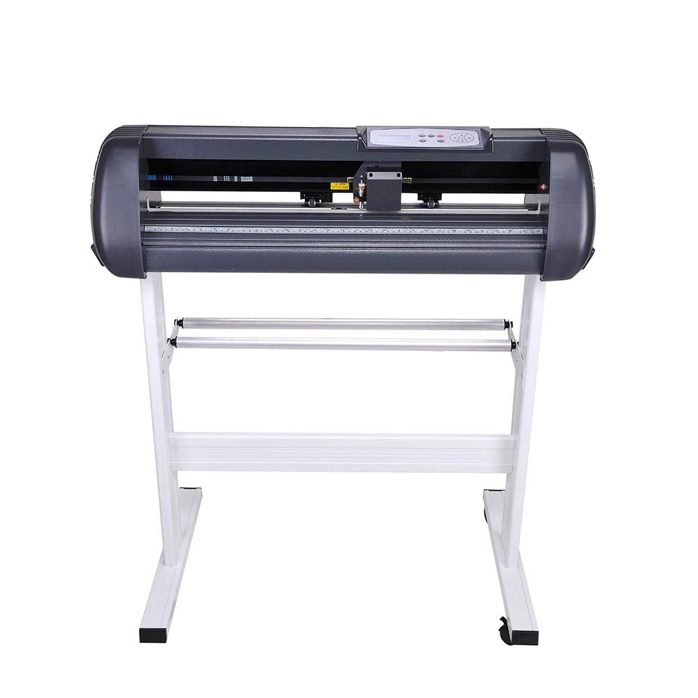 Cutting Plotter Vinyl Cutter Machine 28'' Adjustable Width with LCD Display USB Connection Auto Memory Digital Force Speed Rotating Blade Holder Stepper Motor US Delivery by ZeHuoGe (Image #2)