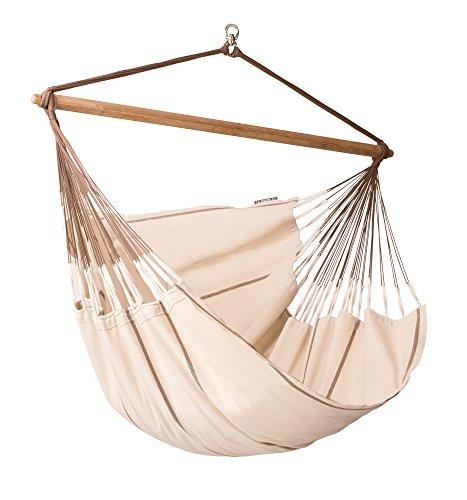 LA SIESTA Habana Nougat - Organic Cotton Lounger Hammock Chair