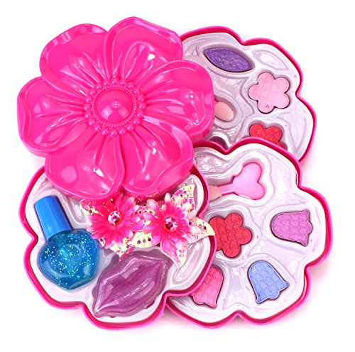 Dream Angel Flower Case Pretend Play Toy Make Up Case Kit, Safe, Non-Toxic, Washable, Formulated for Children]()
