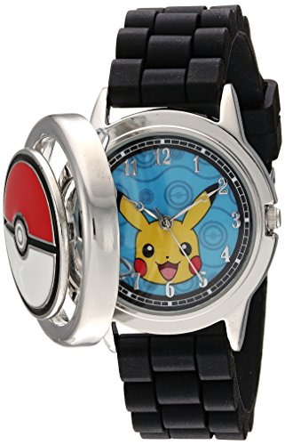 (Pokemon Men's Analog-Quartz Watch with Silicone Strap, Black, 18 (Model: POK9025))