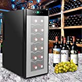Storage Capacity 12 Bottle Thermoelectric Counter Top Wine cooler/Chiller Refrigerator Perfect Living Room Home Office Kitchen