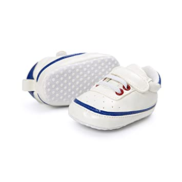 e109bb2985c1 Amazon.com   LooBooShop Emmababy Adorable Sneakers Newborn Baby Crib Shoes  Boys Girls Infant Toddler Soft Sole   Baby