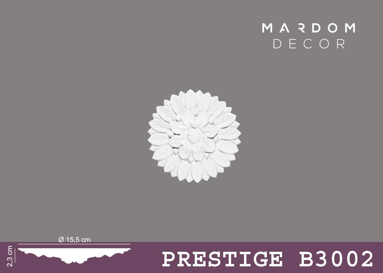 Stuckrosette Mardom Decor Decken Wand Rosette /Ø 15,5 cm B3002 Zierelemente