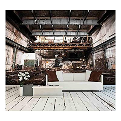 Premium Product, Pretty Design, Abandoned Industrial Interior with Bright Light