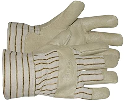 Boss Gloves 4399 Poly Insulated Grain Pigskin Leather Palm Glove, Large