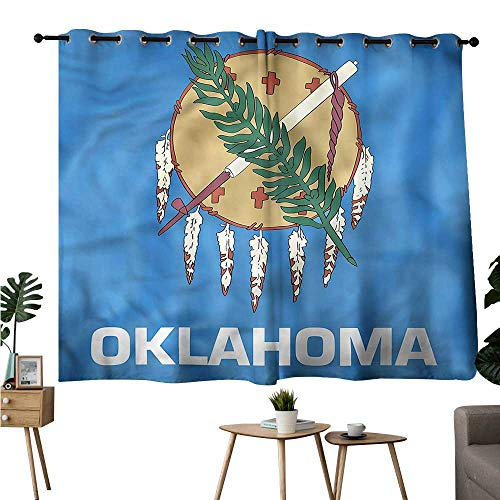 - Gabriesl Printed Darkening Curtains Grommets Curtain Kitchen American,Native Americans Oklahoma Room/Bedroom W84 x L72