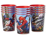 American Greetings Spider-Man Plastic Cups Partyplastic, Stadium Cups, 12-Count