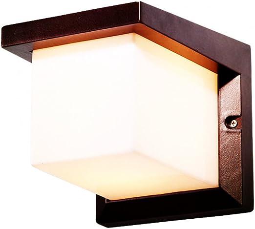 Lampada muro esterno faretti LED Illuminazione Balcone Veranda LAMPADA VETRO ALLUMINIO