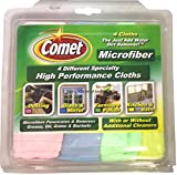 [9 Pack] Comet High Performance Microfiber Cloths, Assorted Colors 4 ea