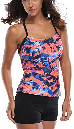 Charmleaks Womens Tankini Sets Womens Tankini Sets Swim Tops Ladies Swimwear Tankini Size Large
