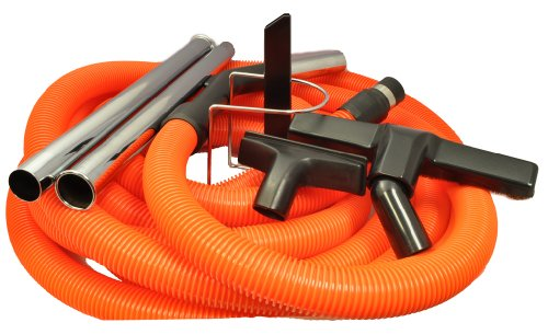 Central Vacuum Cleaner 30 Foot Garage Cleaning Attachment Hose Kit