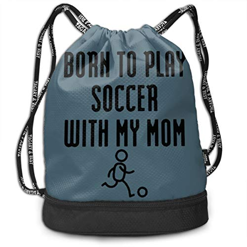VRLGWDHD My Own Soccer Mom Unisex Full All Over Print Sport Gym Drawstring Bags Goody Bags with Straps for Campus