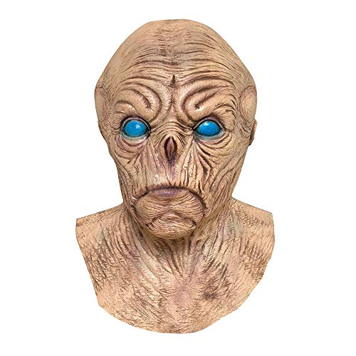 Choosebuy Vampire Alien Mask for Halloween Christmas Party, Latex Melting Full Face Walking Dead Cosplay Masquerade Scary Mask Costume Party Accessories (Khaki) -
