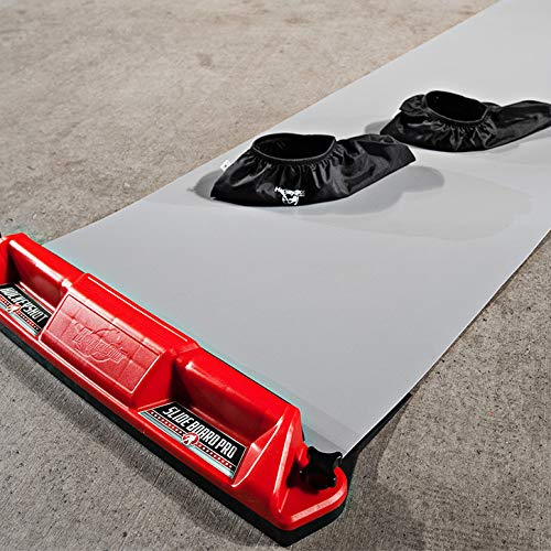 HockeyShot Slide Board Comes in Two Sizes 8ft and 10ft with a Pair of Large Slide Board Booties (Size 8-12). (10 ft)