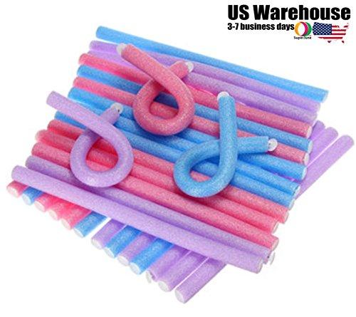 12mm Bendy Twist Benders Hairdressing Foam Hair Rollers Curlers by - Eco Roller Foam