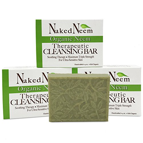 Neem Oil Soap (Neem Soap Bar Ultra-Sensitive Skin-Soothing Therapy-Relieves skin irritation, itching, flaking, dryness. (3 Count))